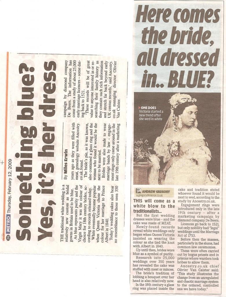 Blue brides